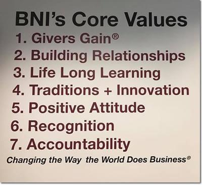 BNI Louisiana Core Values
